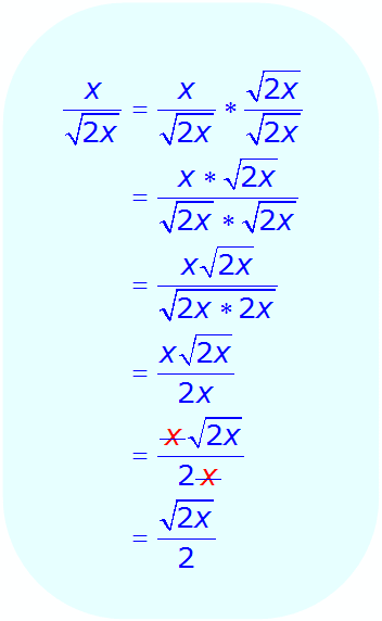 Math - Rationalize the Denominator - Monomial- example 4