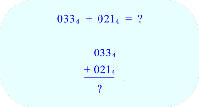 adding base 4 numbers in vertical format 