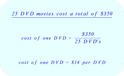 Calculate the average cost of a single DVD.