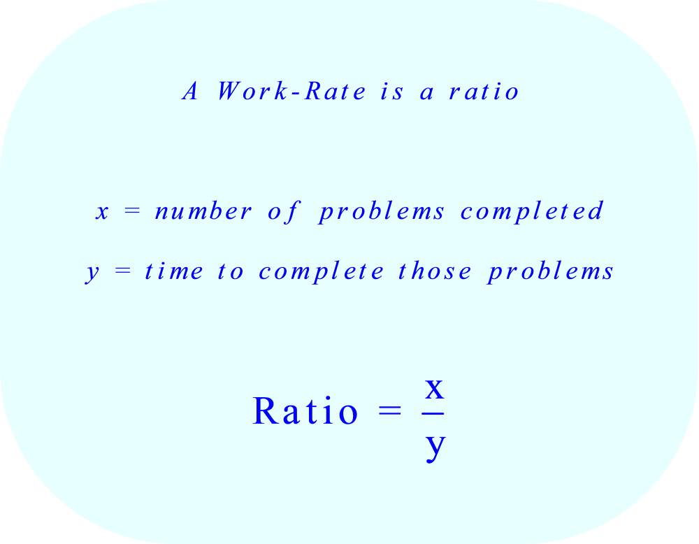 Work Rate is a Ratio