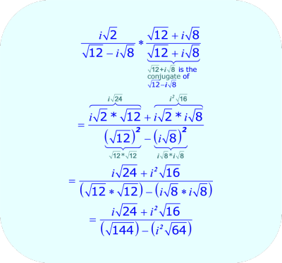 Rationalize the Denominator - multiply by conjugate - 01