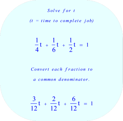 work rate problem:  solve for time
