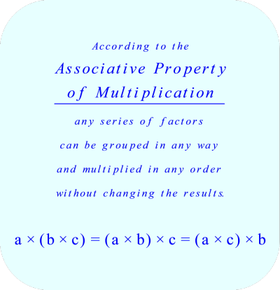 Associate Property of Multiplication