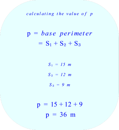 Triangular prism - calculating the base perimeter*** Click to enlarge image ***