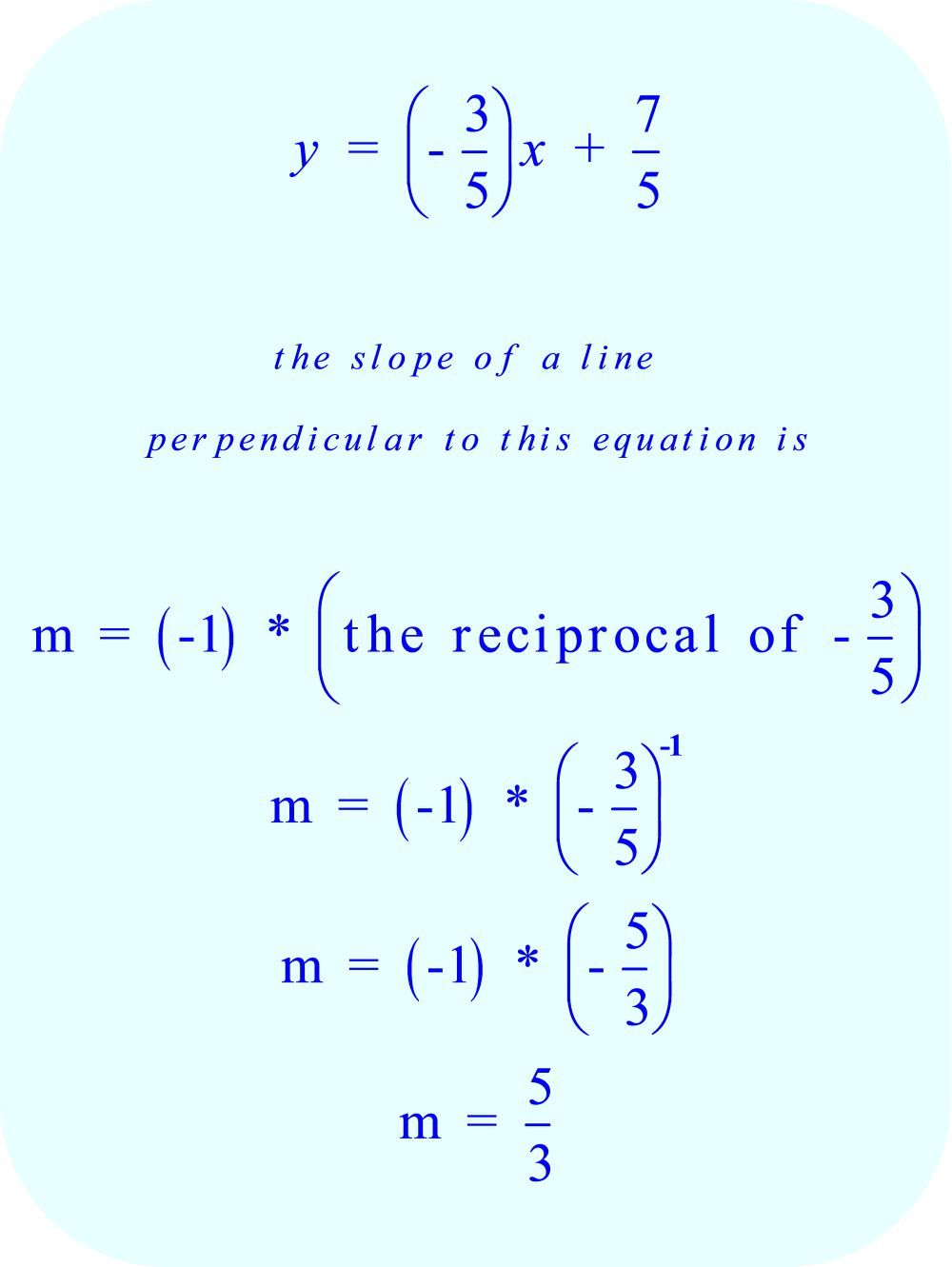 how to find the perpendicular slope of a line