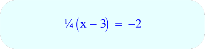 Two Step Equation - solve for x