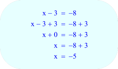 Add 3 to each side of the equation