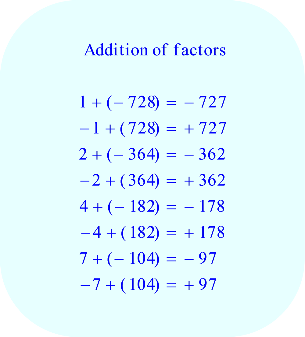 Find two factors which can be added to produce a total equal to the coefficient b, -43, part 1