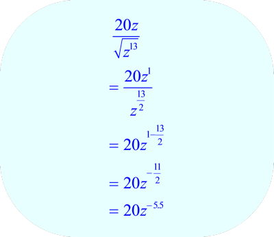 Convert radical expression to exponential notation.