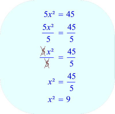 Divide each side of the equation by 5