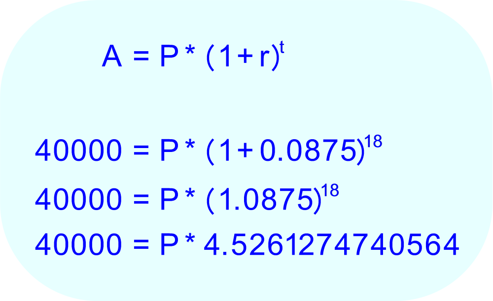 Evaluate the parentheses and exponent on the right side of the equation