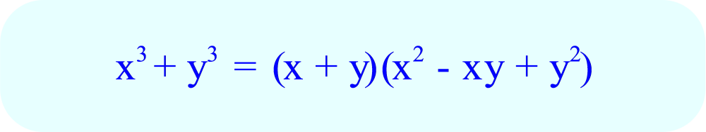 Factoring a Sum of Two Cubes