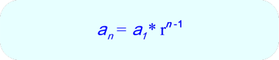Geometric Sequence -Formula for the nth term in a sequence