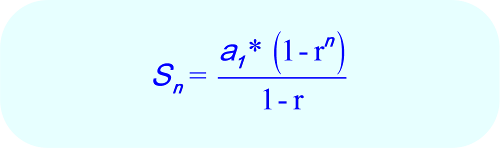 Geometric Sequence - Formula for the sum of n terms in geometric sequence