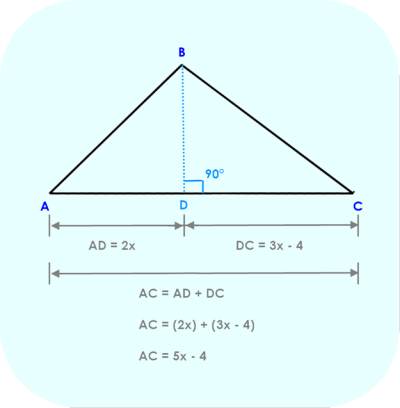 Line Segment AC is the sum of AD and DC