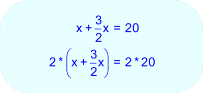 Multiply each side of the last equation by 2