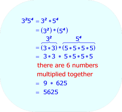 Multiplying Two Exponential Expressions, when  1.  The two exponents are two different integers  2.  The two base numbers are two different integers