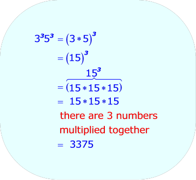 Multiplying Two Exponential Expressions - Rewriting the entire expression so there is only one base, when  1.  The two exponents are the same integer  2.  The two base numbers are two different integers