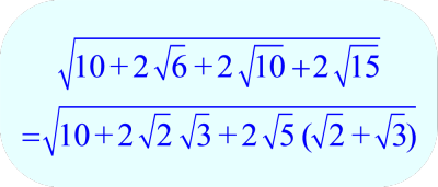Math – Rearrange Terms in Radical Expression - Example A