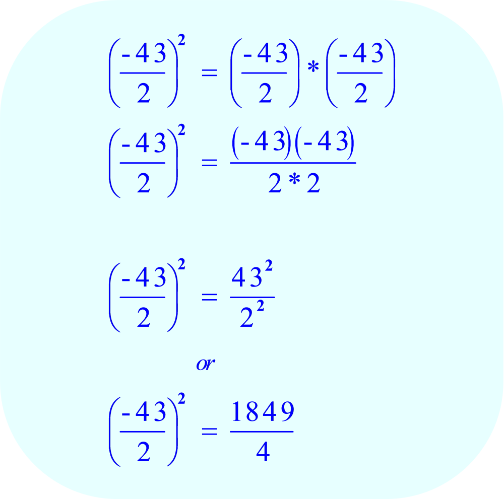 Divide the Coefficient b by 2, and then square the result