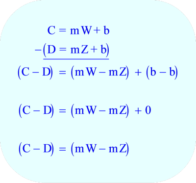 Subtract the two equations