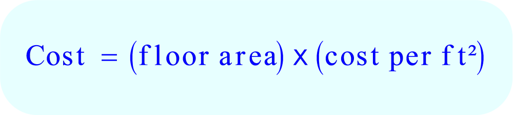 Word Problem - Cost Cleaners charge:  cost = area * cost per ft²
