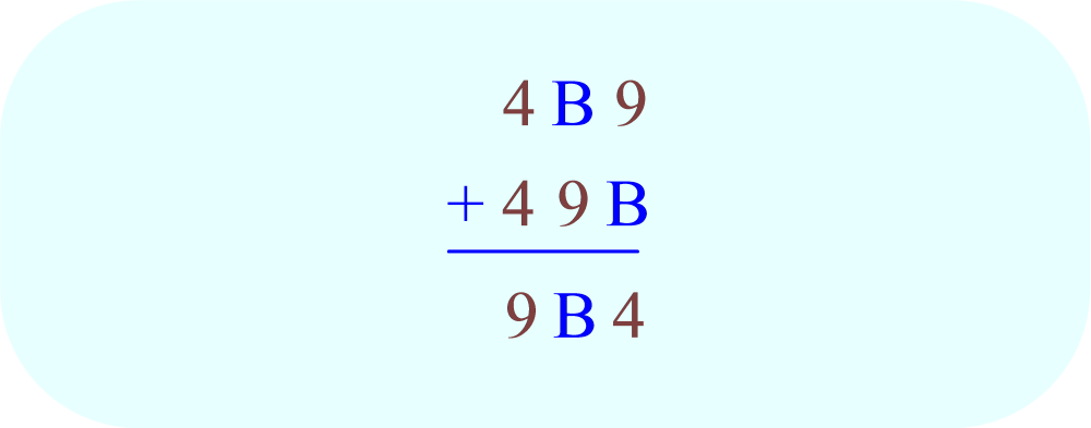 ABC + ACB = CBA, substitute A = 4