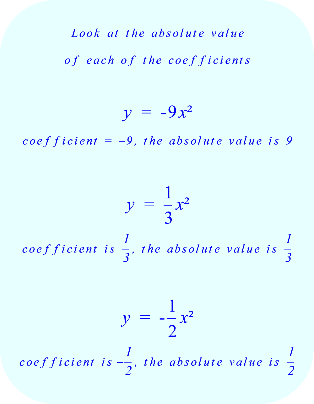 Look at the absolute value of each of the coefficients