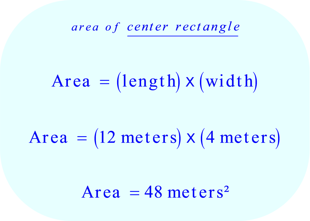 the area of the center rectangle of the table
