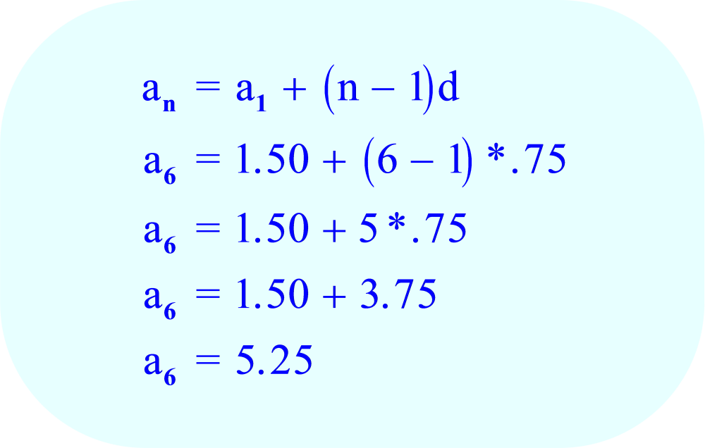 Arithmetic Sequence   Verify Answer