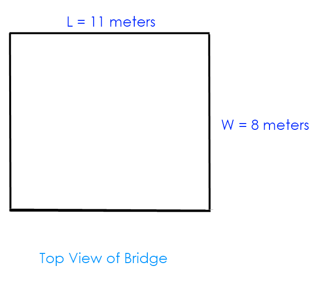 Math – solution to  bridge dimensions