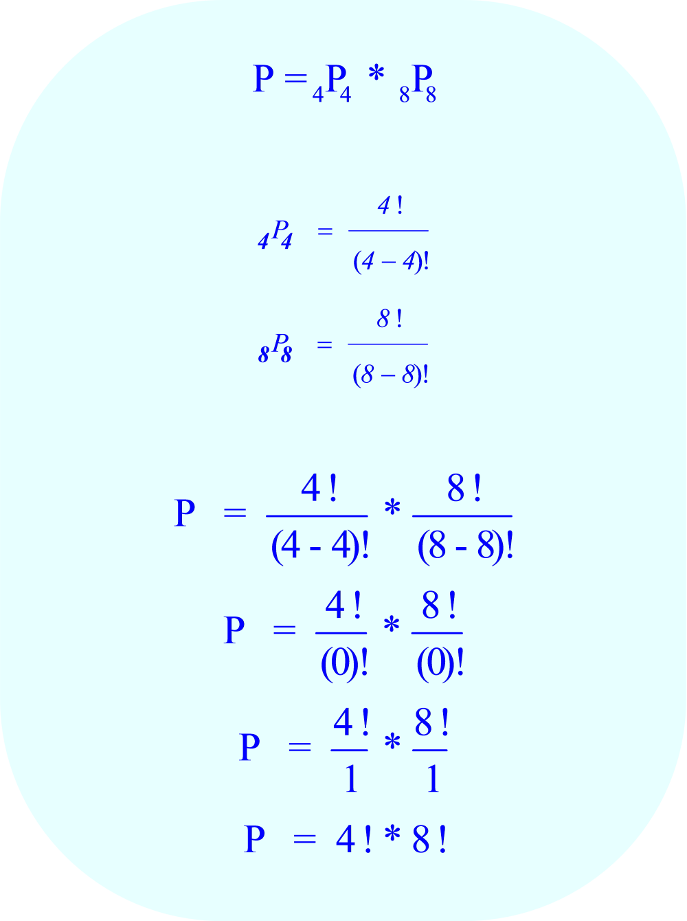Calculate compound permutations when: 