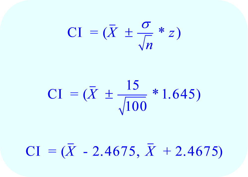 Substitute known values in equation for n = 100
