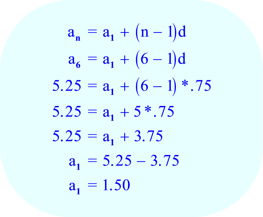 Arithmetic Sequence   Calculate The First Term