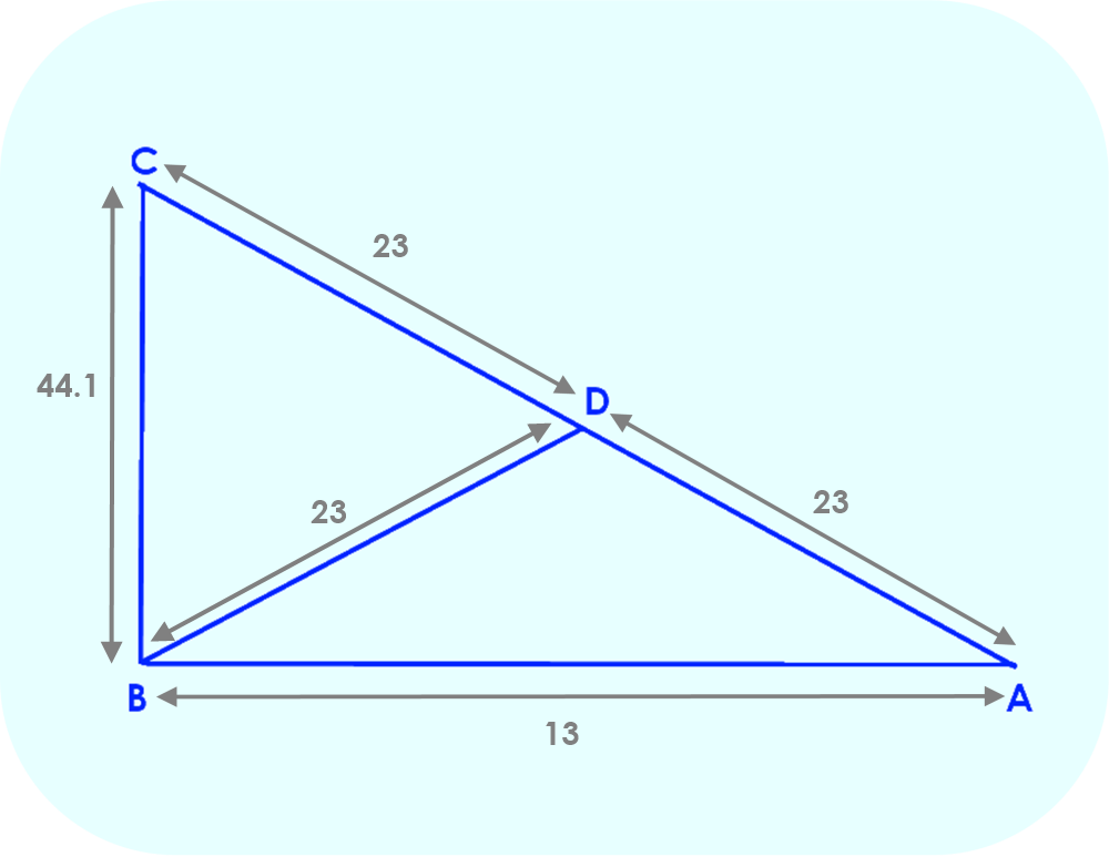 Dimensions of Triangle ABC
