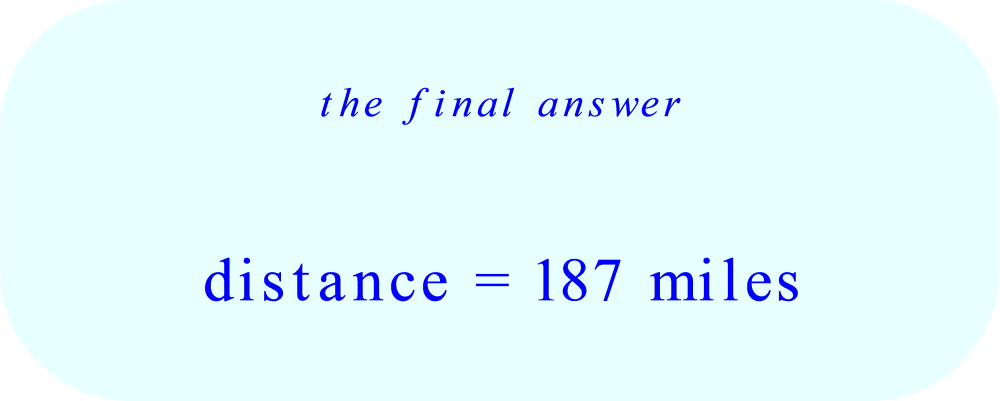 Final Answer:  the distance the hurricane travels in four hours (after the 10% increase in speed)