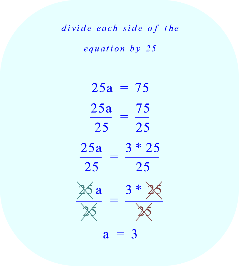 divide each side of the equation by 25