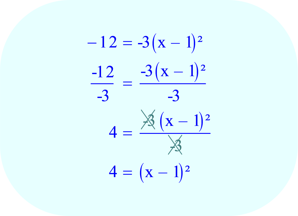 Divide each side of the equation by -3