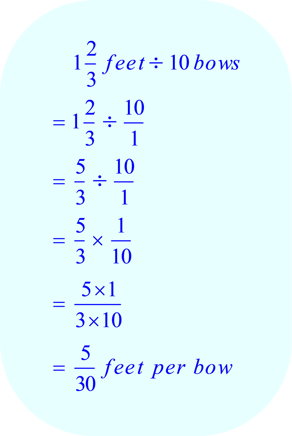 Dividing a Mixed Number by an Integer