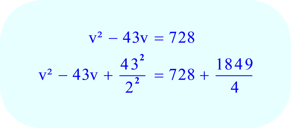 Add the result to each side of the equation - this will CHANGE THE LEFT SIDE OF THE EQUATION SO IT CAN BE FACTORED AS A PERFECT SQUARE