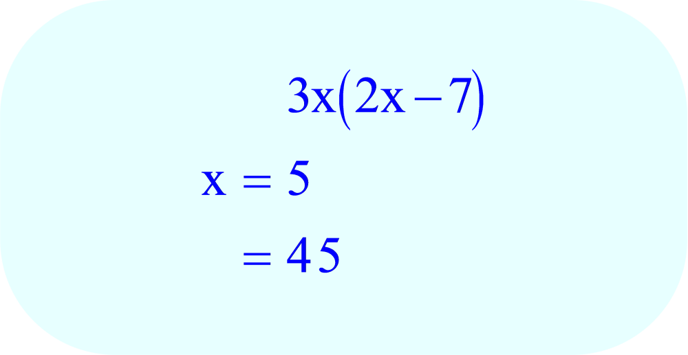 Evaluate the Expression 3x(2x-7)