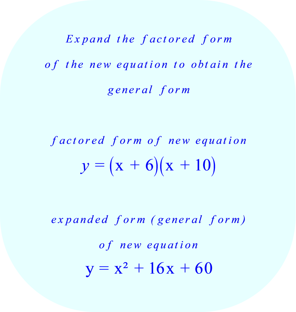 expanded form quadratic equation  unique quadratic equation in the form y = ax^17 + bx + c