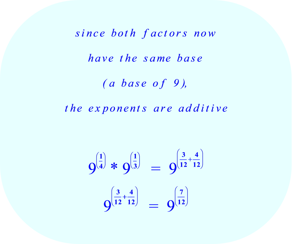 Multiplying Diffe Bases With Fractional Exponents