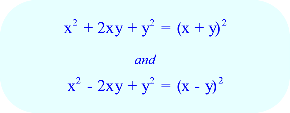 Algebra II - three special types of factoring