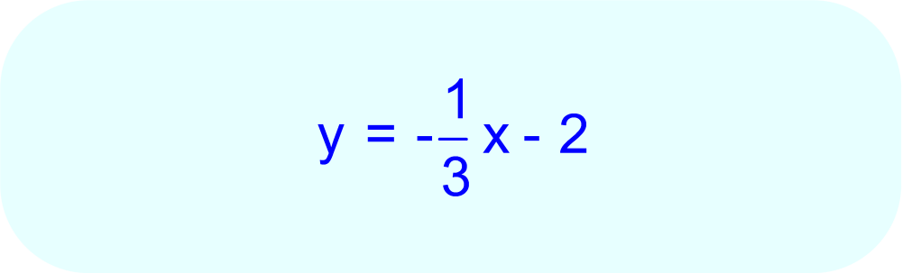 Final Answer:  Linear Equation with slope -1/3 passing through point (6, -4).