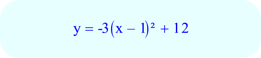 Final equation for the parabola which opens downward with an axis of symmetry x = 1