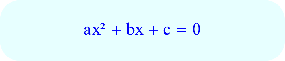 Format of Quadratic Equation