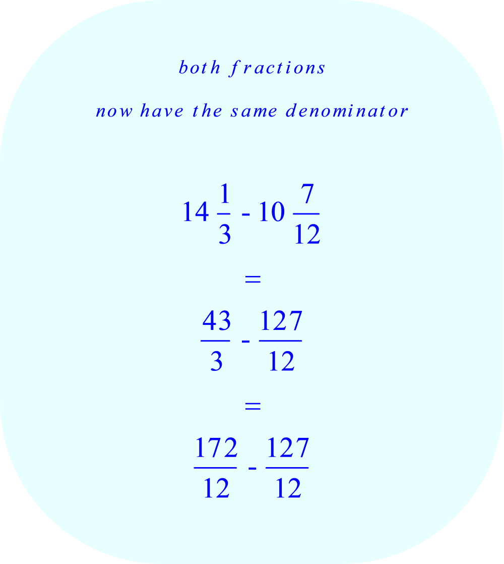 Both fractions now have a common denominator