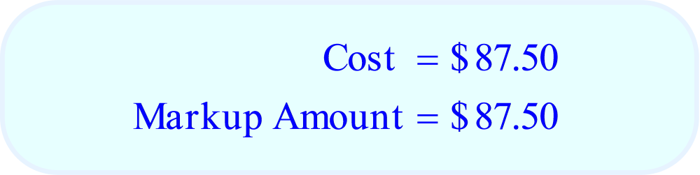 Math – Markup %, Cost, and Markup Amount, final