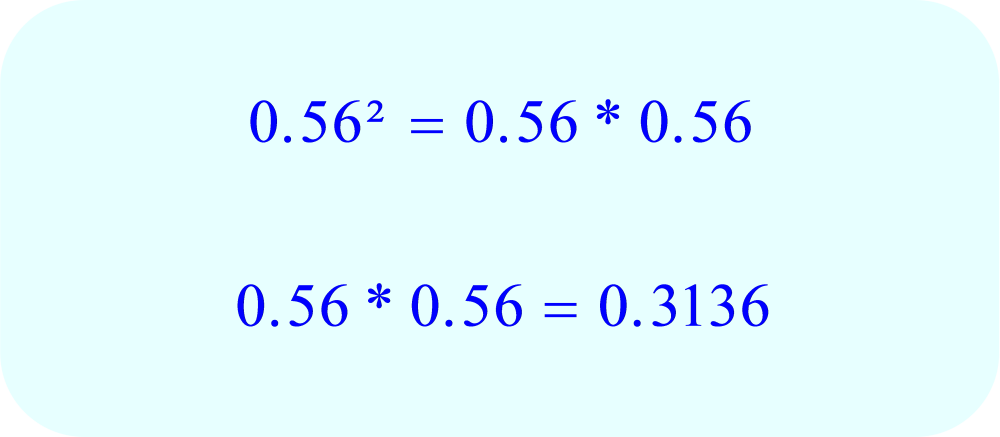 Math - multiply decimals by exponents